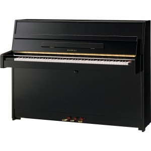 New Kawai K15 Upright Piano Polished Ebony