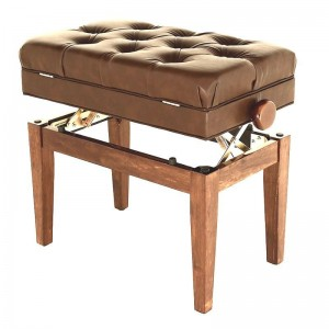 SJ Leatherette Adjustable Stool (Brown)