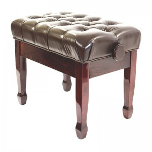 SJ Luxury Leather Piano Stool (Brown)