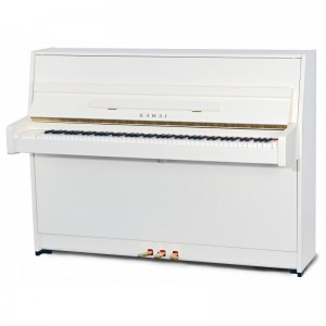 New Kawai K15 Upright Piano in White